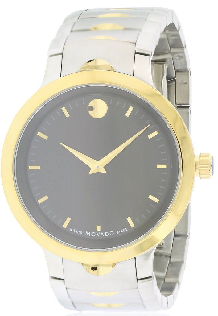 Movado Luno Two-Tone Stainless Steel Mens Watch
