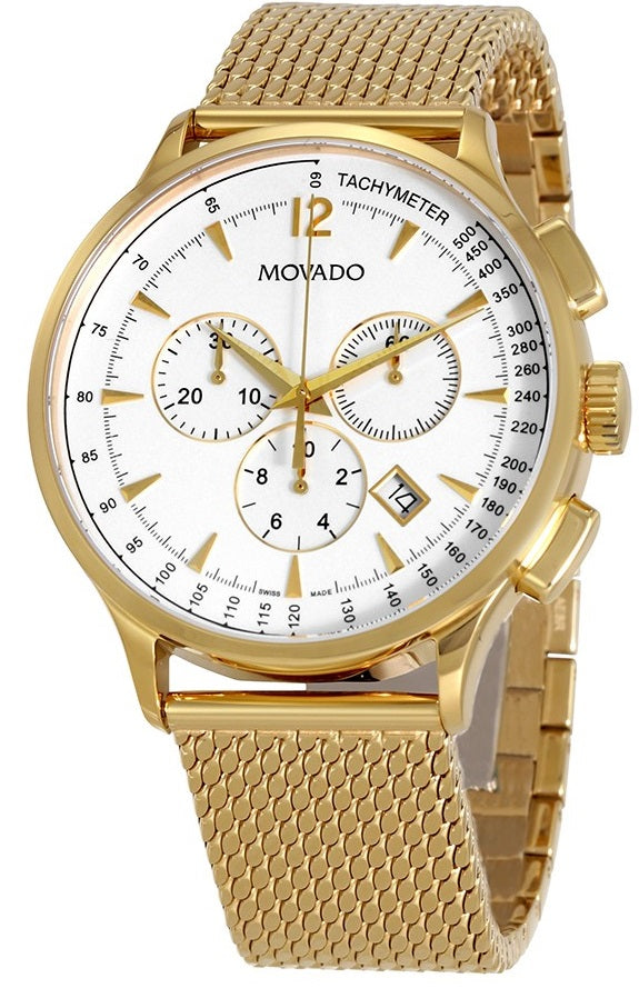 Movado Circa Chronograph Gold-Tone Mens Watch