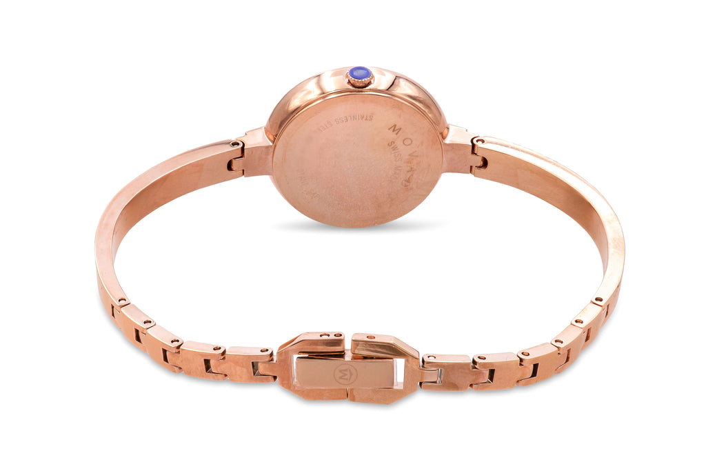 Movado Bela Rose Gold-Tone Bangle Ladies Watch