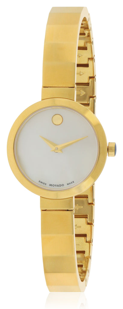 Movado Novella Gold-Tone Stainless Steel Ladies Watch