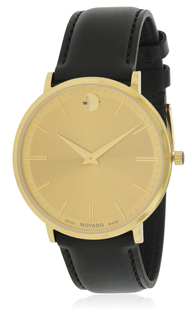 Movado Ultra Slim Leather Mens Watch