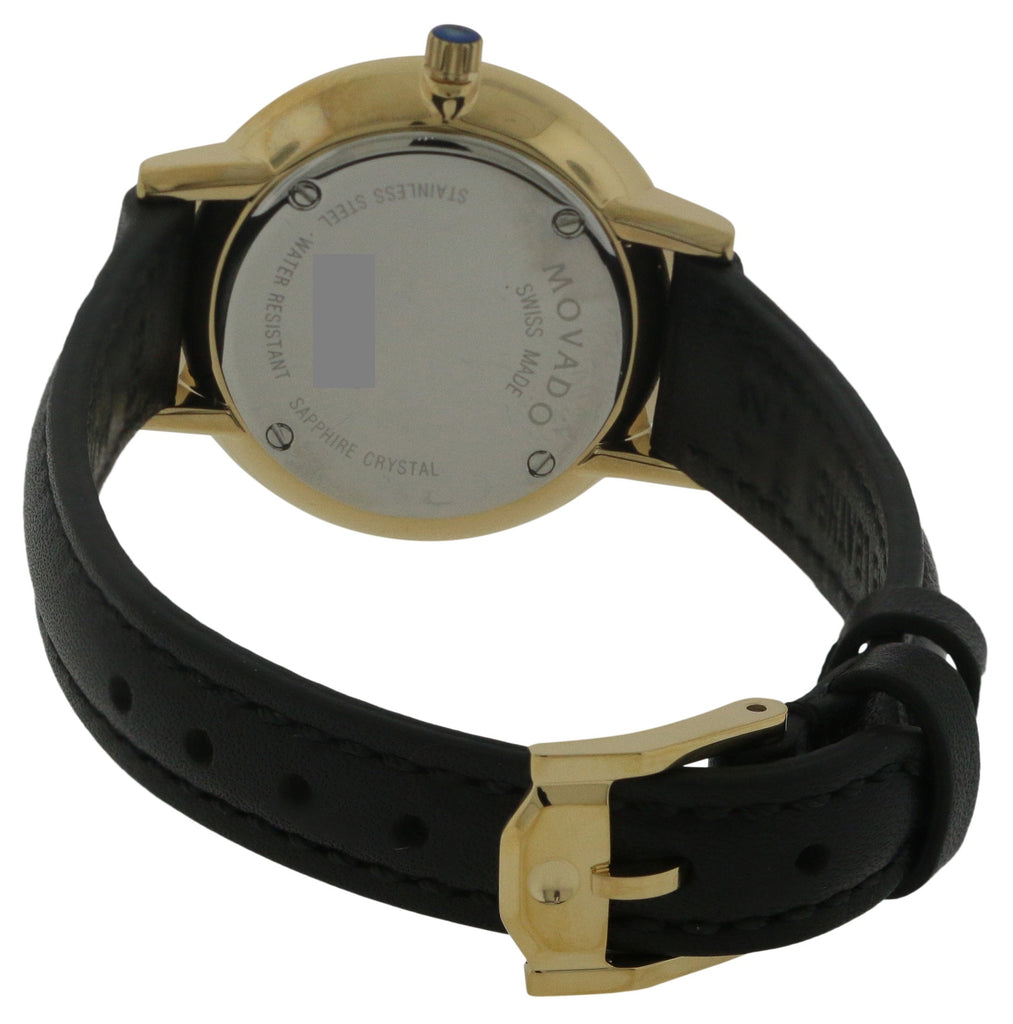 Movado Ultra Slim Leather Ladies Watch