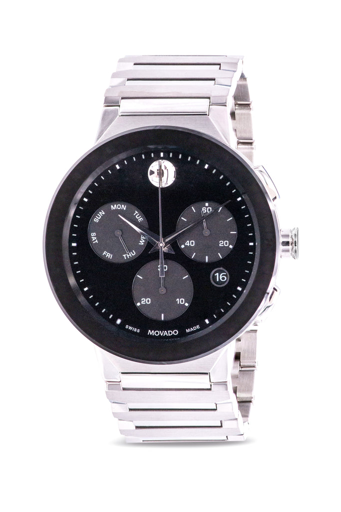 Movado Sapphire Chronograph Stainless Steel Mens Watch