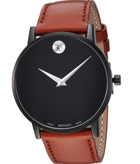 Movado Museum Cognac Leather Mens Watch