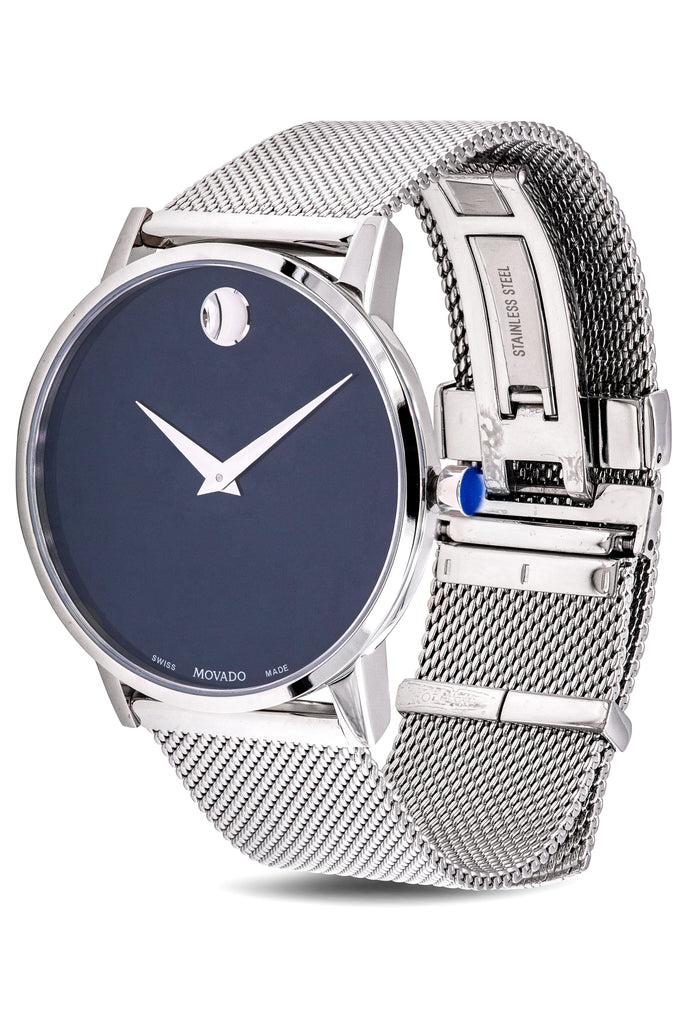 Movado Museum Classic Stainless Steel Mesh Mens Watch