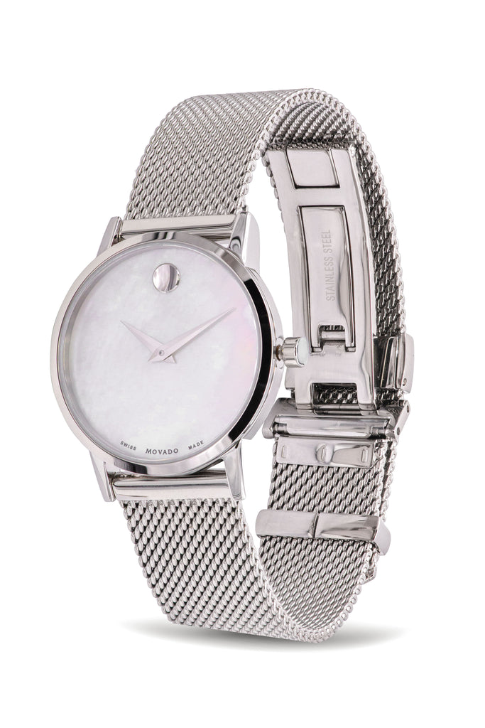 Movado Museum Classic Stainless Steel Mesh Ladies Watch