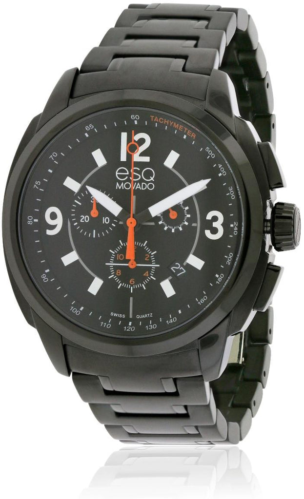 ESQ by Movado Excel Chronograph Black IP Mens Watch