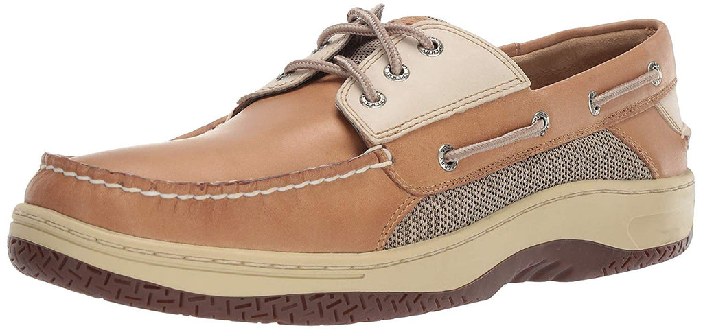 Sperry Mens Billfish 3-Eye Boat Shoe - Tan-Beige - Size 8.5
