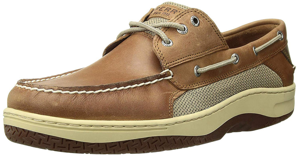 Sperry Mens Billfish 3-Eye Boat Shoe -  Dark Tan - Size 9
