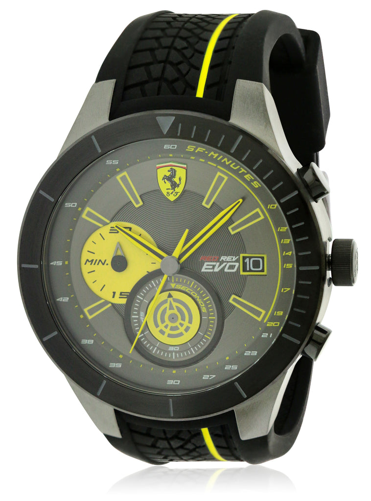 Ferrari Scuderia Redrev EVO Rubber Chronograph Mens Watch