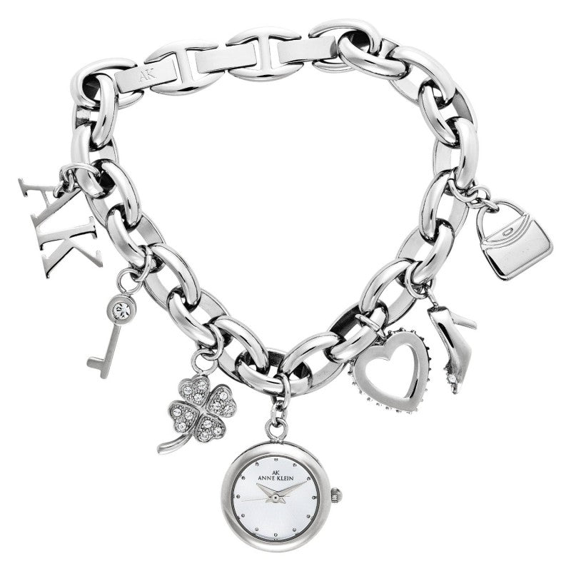 Anne Klein Swarovski Charm Bracelet Ladies Watch