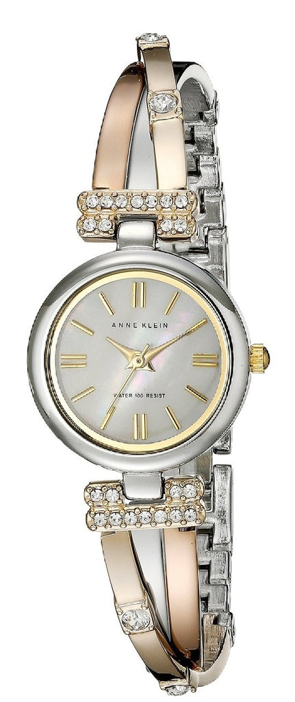 Anne Klein Tri-Tone Bangle Ladies Watch