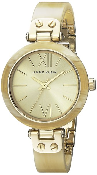 Anne Klein Gold-Tone Horn Plastic Ladies Watch