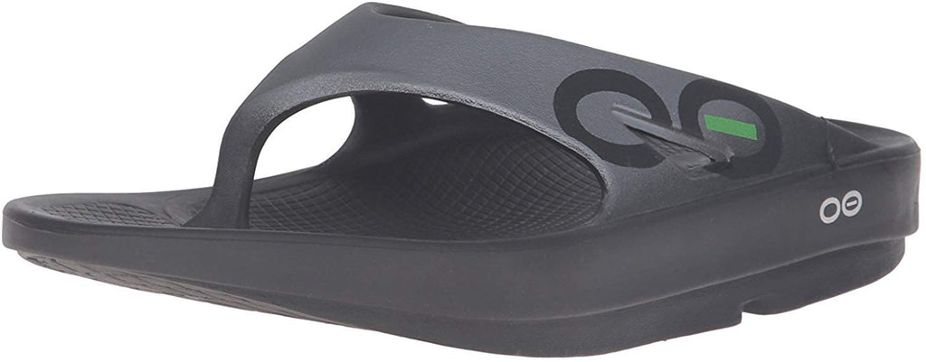 OOFOS Unisex Ooriginal Sport Thong Flip Flop - Black/Graphite - 10 Women/8 Men