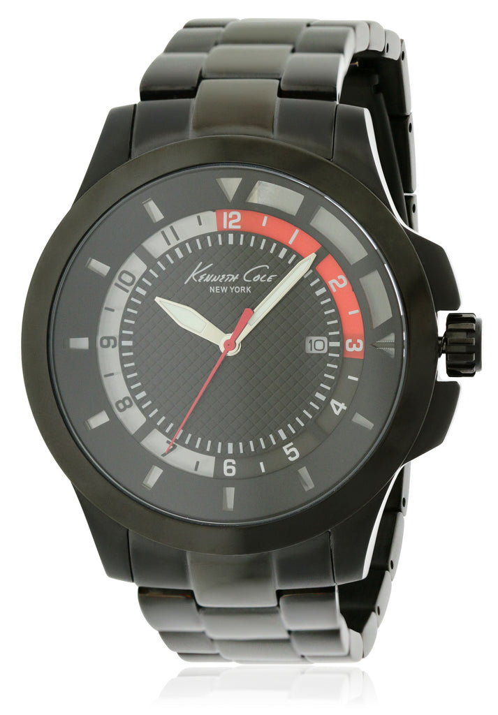 Kenneth Cole New York Black Stainless Steel Mens Watch