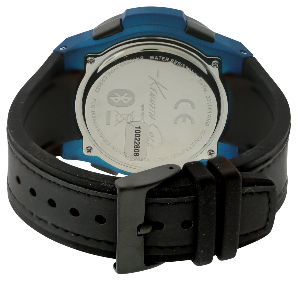 Kenneth Cole New York Connect Smart Tech Bluetooth Silicone Mens Watch