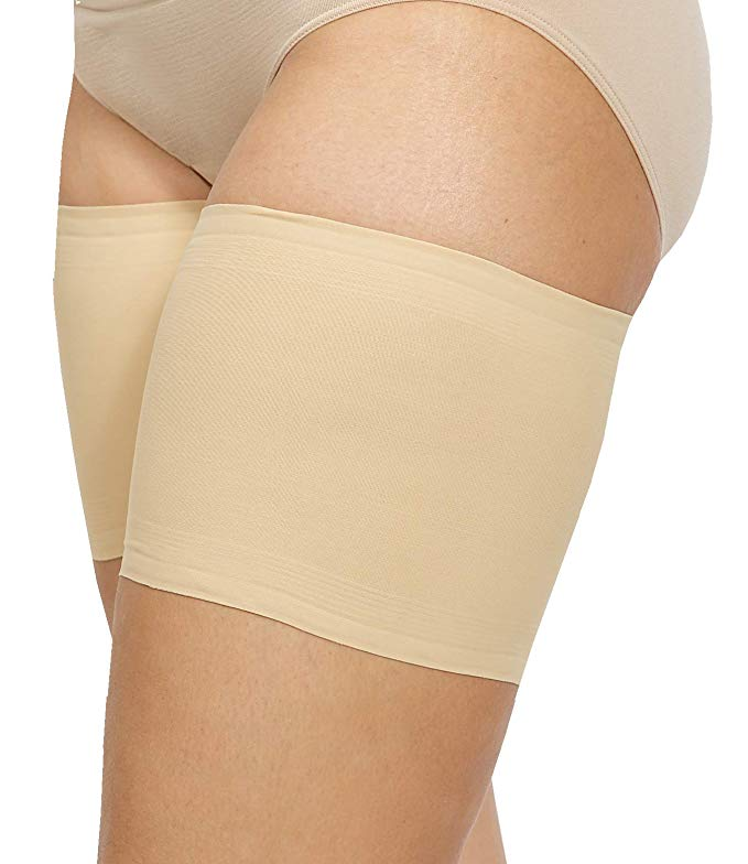 Bandelettes Elastic Anti-Chafing Thigh Bands - Prevent Thigh Chafing - Beige Unisex - Size C