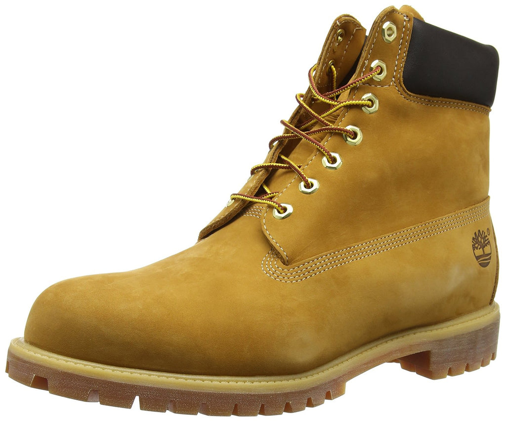Timberland Mens 6 Inch Premium Waterproof Boot -Wheat Nubuck - Size M9