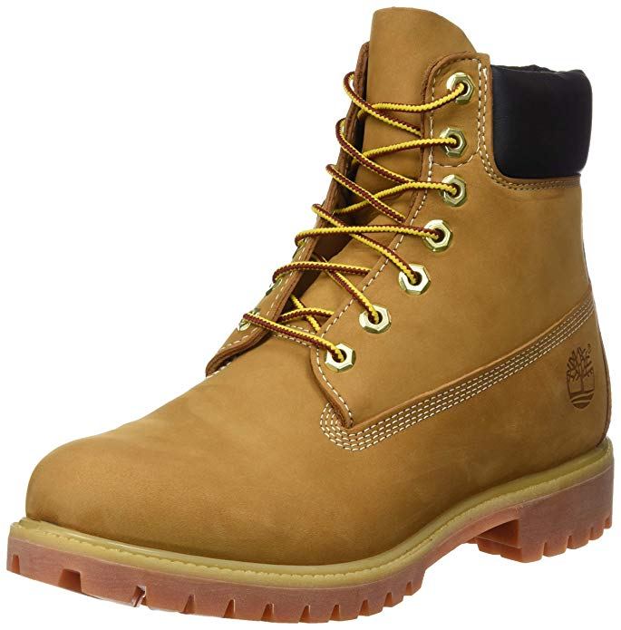 Timberland Mens Classic 6 inch Premium Boot Wheat Nubuck Leather Boot 8 EE - Wide