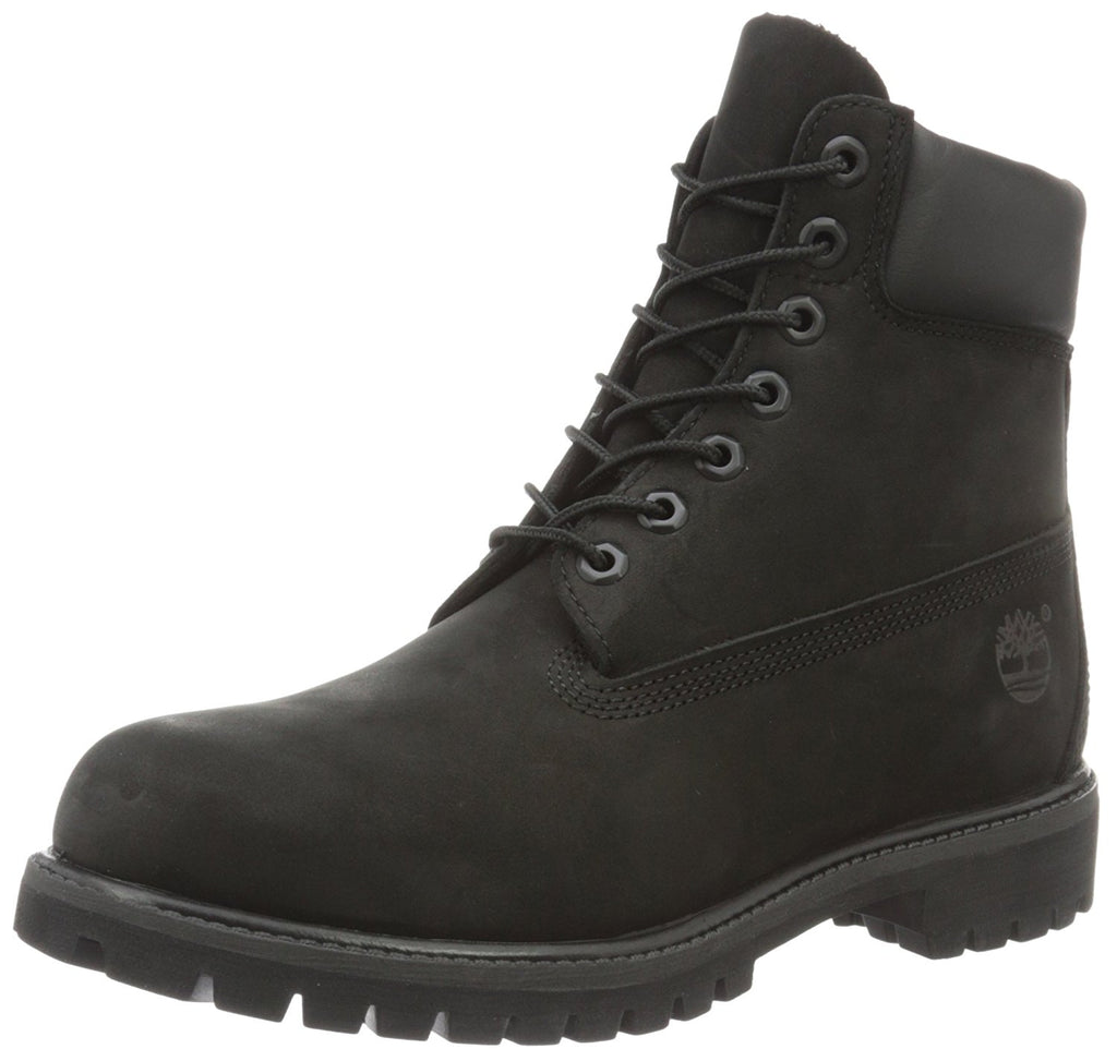 Timberland Mens 6 inch Premium Waterproof Boot - Black Smooth Leather - 8.5 M -