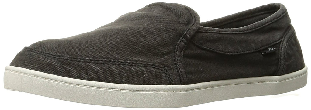 Sanuk Womens Pair O Dice Flat - Washed Black - 9