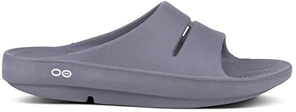 OOFOS - Unisex OOahh Sport - Post Run Recovery Slide Sandal - Slate - M6/W8