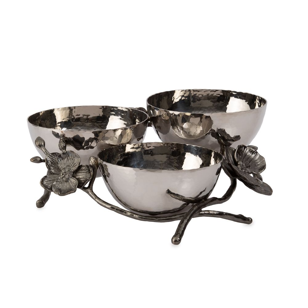 Michael Aram Black Orchid Triple Nut Dish -