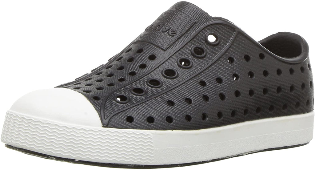 Native Jefferson Kids/Junior Shoes - Jiffy Black/Shell White - J5