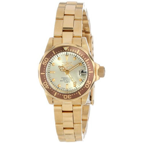 Invicta Pro Diver Gold Ion Ladies Watch
