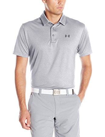 Under Armour Mens UA Playoff Polo - M - Overcast Gray/Stealth Gray