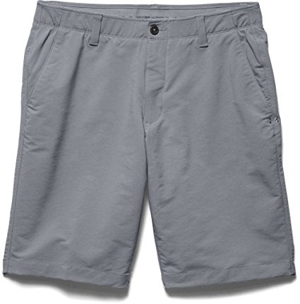 Under Armour Mens Match Play Shorts - 30 - Canvas/True Gray Heather