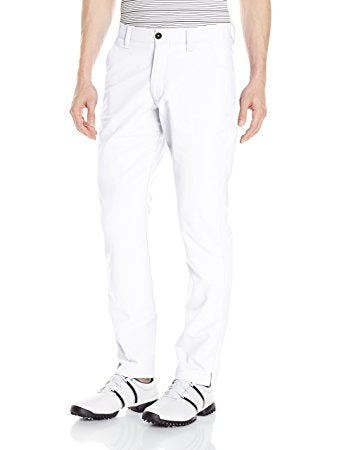 Under Armour Mens Match Play Golf Pants - Tapered Leg - 32/32 - White
