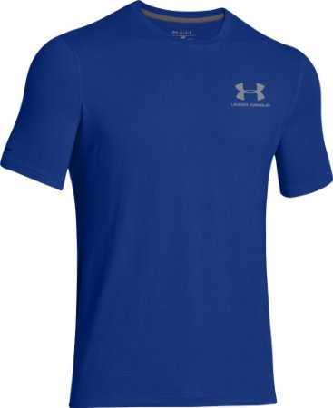 Under Armour Mens Charged Cotton Sportstyle T-Shirt - S - Royal/Steel
