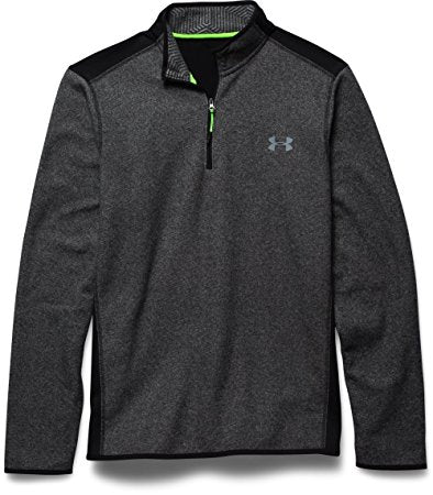 Under Armour Mens ColdGear Infrared Fleece 1/4 Zip - S - Black/Steel