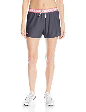 Under Armour Womens Play Up Shorts - XS - Stealth Gray/Brilliance