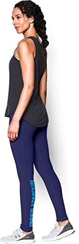 Under Armour Favourite Legging-Wordmark Womens Leggings - AW15 - S - Navy Blue