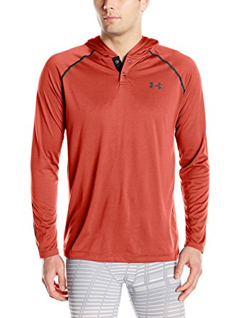 Under Armour Mens Tech Popover Hoodie - L - Black/Rocket Red