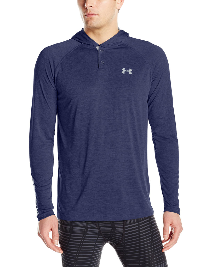 Under Armour Mens Tech Popover Hoodie - L - Midnight Navy/Steel