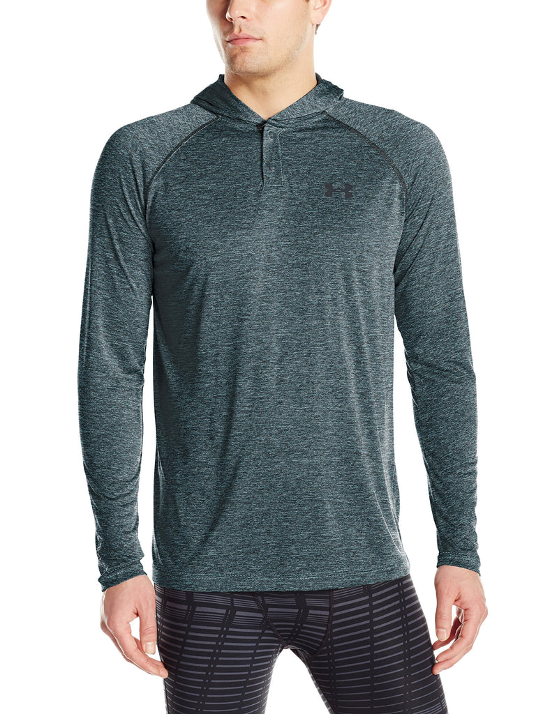 Under Armour Mens Tech Popover Hoodie - S - Meridian Blue