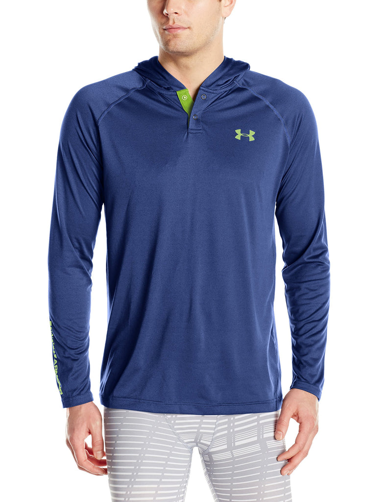 Under Armour Mens Tech Popover Hoodie - S - Blackout Navy