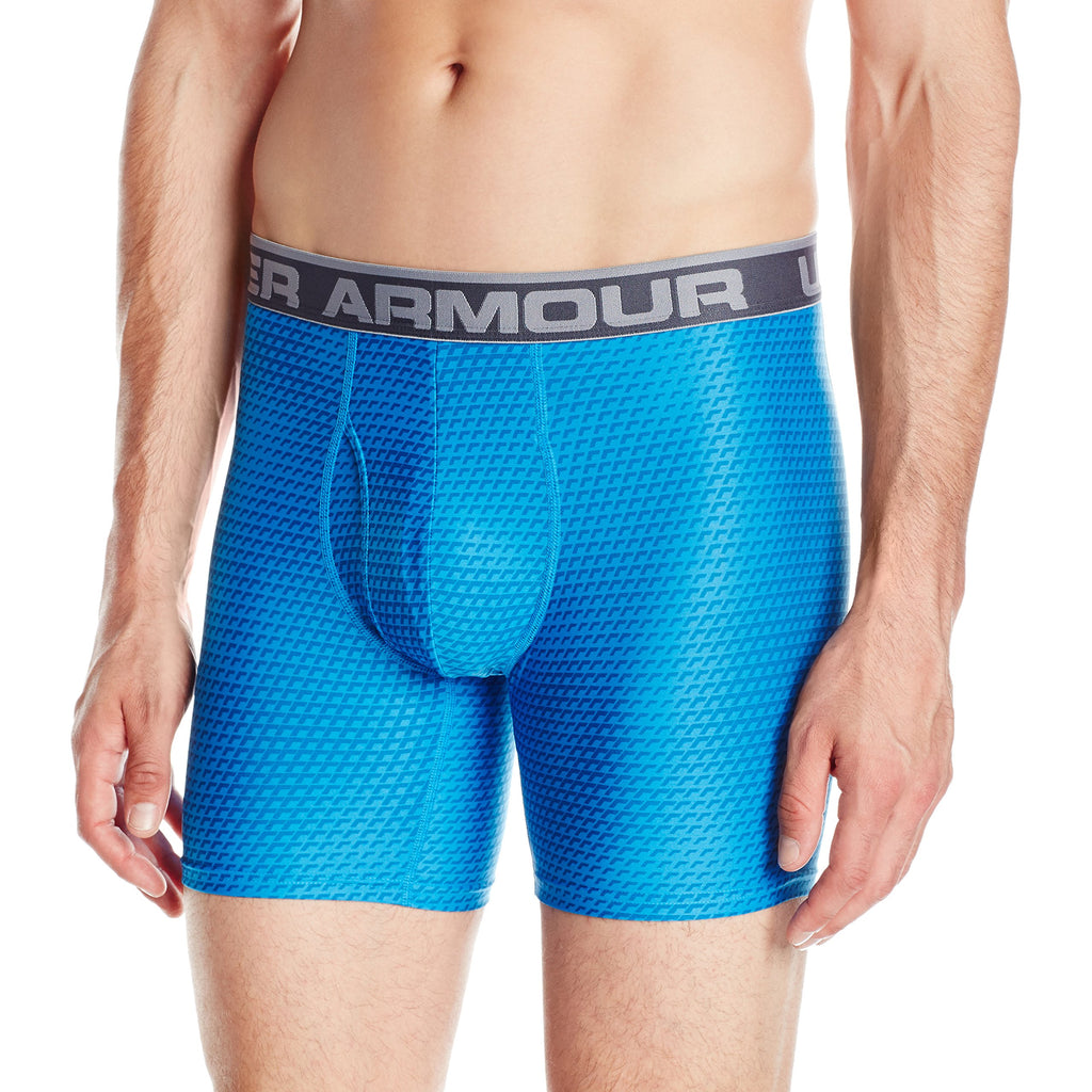 Under Armour Mens Original Series 6 inch Printed Boxerjock - S - Brilliant Blue/Steel