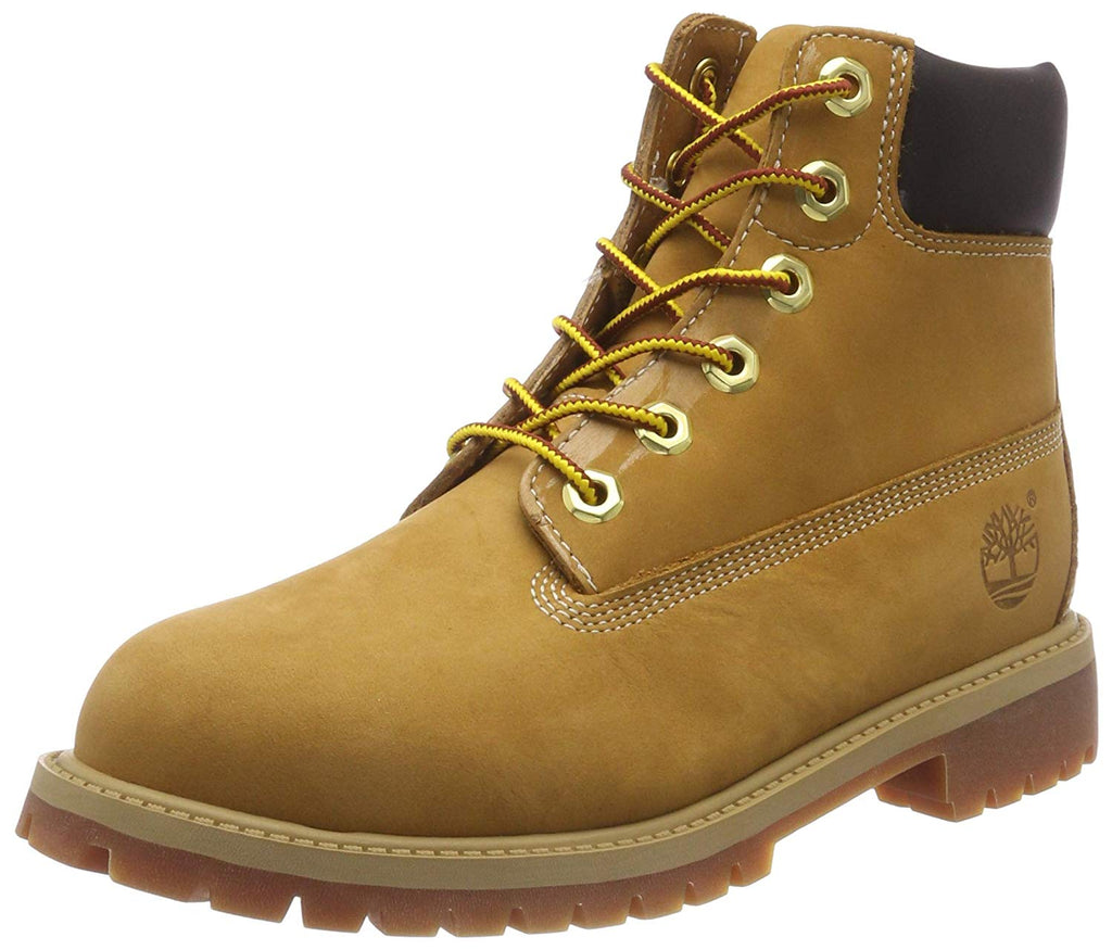 Timberland 6 inch Premium Waterproof Boot Core (Big Kid) -  Wheat Nubuck -  4.5 M US