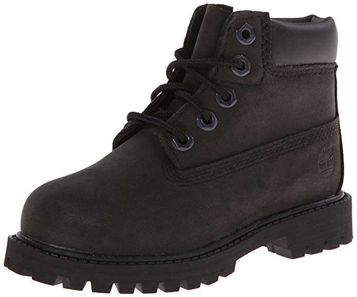 Timberland 6-Inch Premium Waterproof Boot - Toddler/Little Kid/Big Kid - Black Nubuck - 12907-BLACK-NUBUCK-5.5
