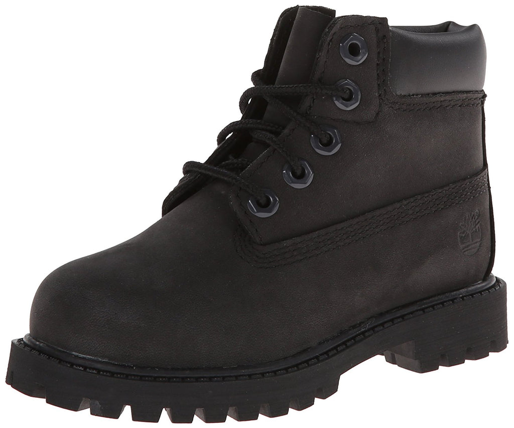 Timberland 6 inch Premium Waterproof-K -  Black Nubuck - 6 M US Big Kid