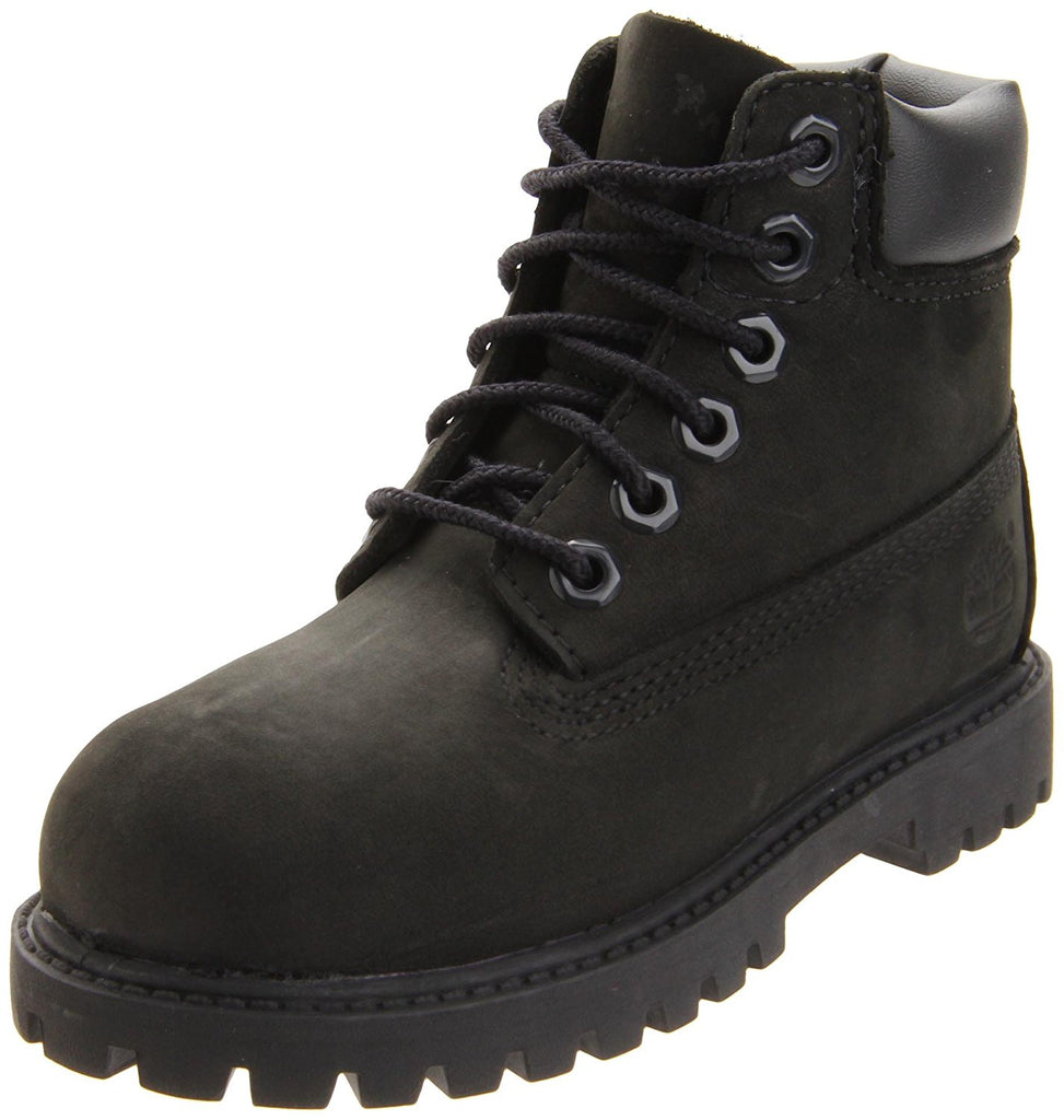 Timberland 6-Inch Premium Waterproof Boot - Toddler/Little Kid/Big Kid - Black Nubuck - 4 M Big Kid -