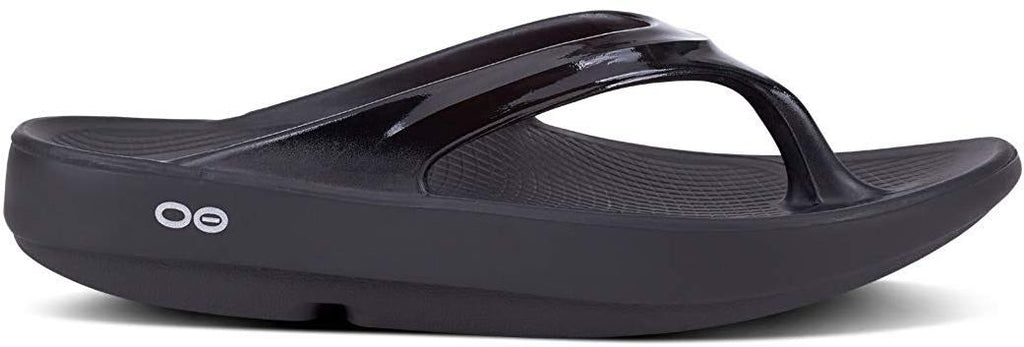 OOFOS - Womens OOlala - Post Run Sports Recovery Thong Sandal - Black - M6/W8