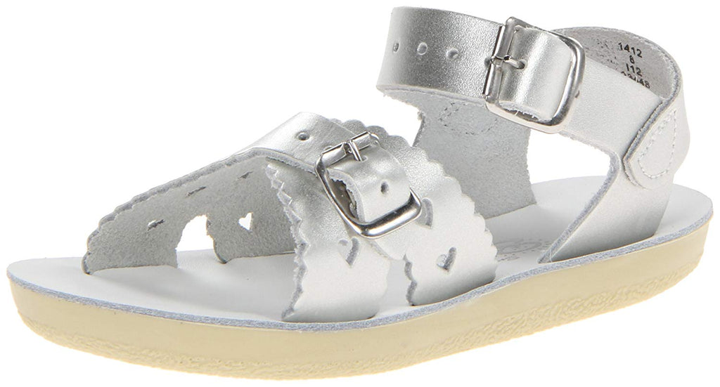 Salt Water Sandals 1412 Sun-San Sweetheart Silver Size 8