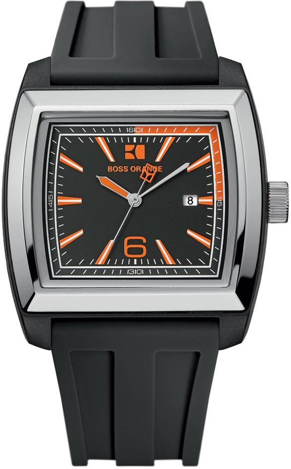 BOSS ORANGE Black Rubber Mens Watch