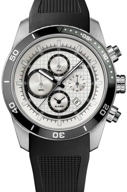 Hugo Boss Silicone Alarm Chronograph Mens Watch