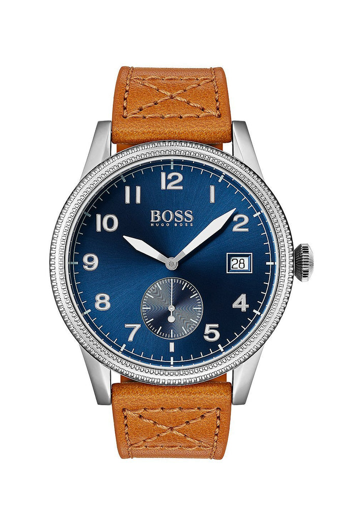Hugo Boss Legacy Brown Leather Mens Watch